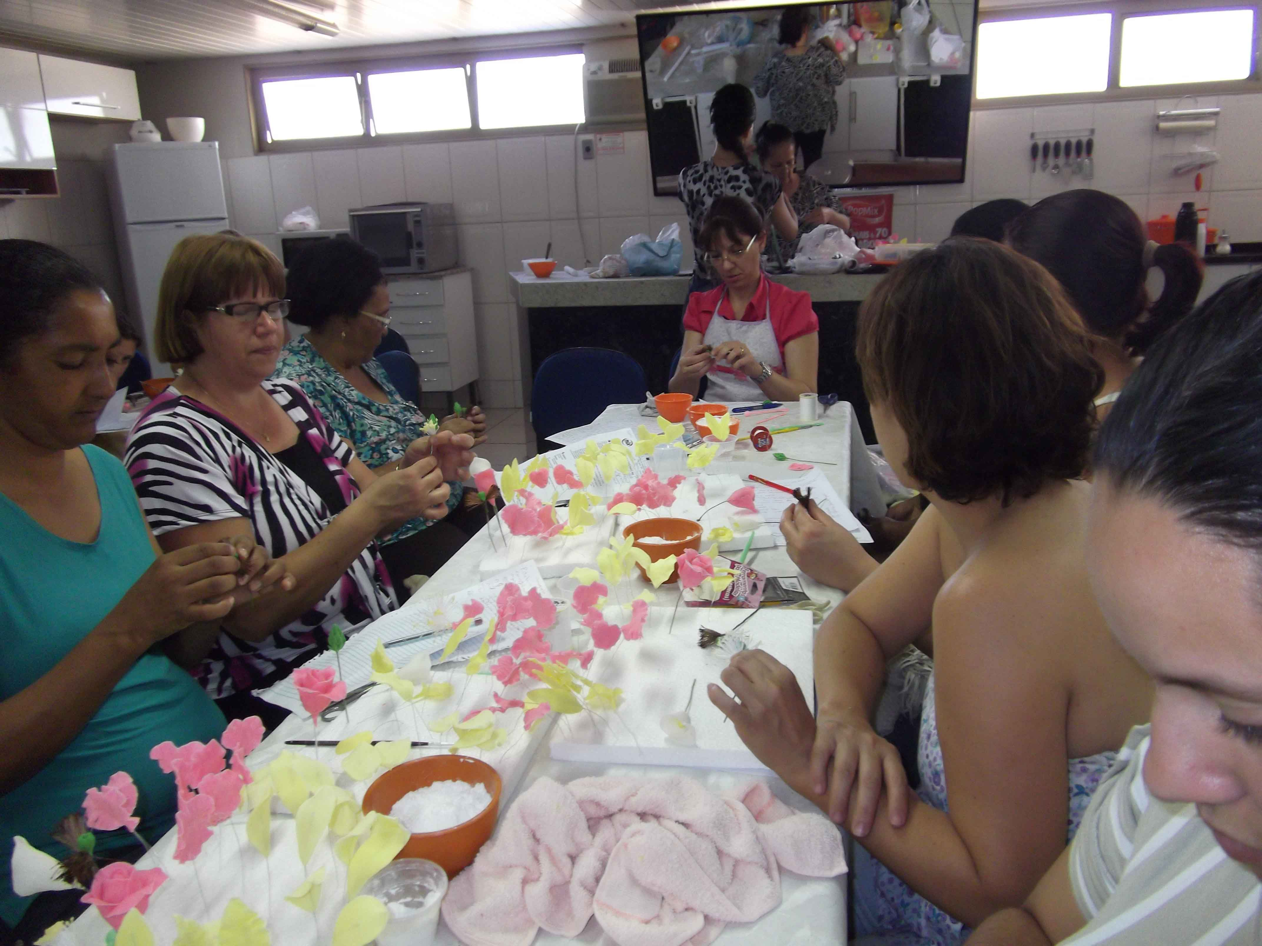 Aula Oficina Flores de Açúcar com Patrícia Junqueira